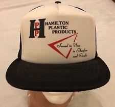 Vintage HPP Hamilton Plastic Products Trucker Hat Cap Mesh Fiberglass Acrylic