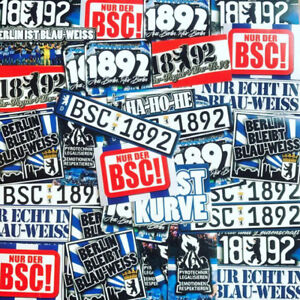 100 x Berlin Stickers inspired by Ultra Aufkleber Hertha BSC Badge Flag