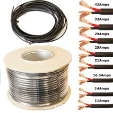 2 Core Flat Twin Cable 12V 24V Thin Wall Wire Stranded - 11A 14A 16.5A 21A 42A