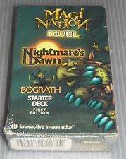 Magi-Nation Brand New Sealed 1st Edition Nightmare's Dawn Bograth Starter Deck