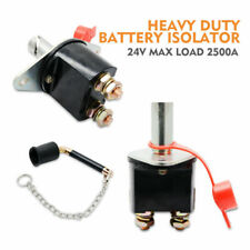 Battery Isolator Switch Cut Off Metal Key Master Kill Switch Heavy Duty Truck24V