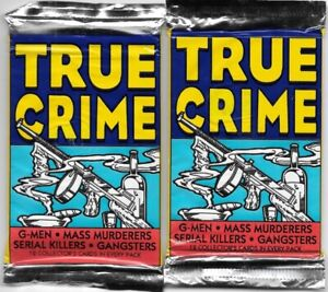 True Crime 1st Series 2 SEALED NEW UNOPENED Trading Card Packs 1992 Eclipse