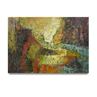 NY Art - Dreamy Modern Abstract 24x36 Thick Original Oil Painting on Canvas