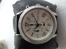 RARE BEAUTIFUL TITAN WHITE & BLUE ROMAN DIAL MEN'S QUARTZ CHRONOGRAPH WRISTWATCH