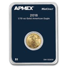 2018 1/10 oz Gold American Eagle (MintDirect® Single) - SKU#152659