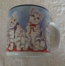"Flowers Inc Balloons Kitten Cat Mug Cup Collectible Coffee Tea 4"" Tall"