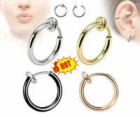 Retractable Earrings No Need Piercing Men Women Classic Hip-hop Style Hoop it