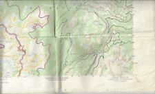Merced Peak California map 1953 series V795 datum of 1929 foldout 12x32 inches