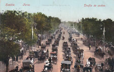 * SPAIN - Sevilla - Feria, Desfile de coches 1908