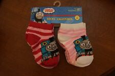 NEW Thomas the Train Toddler Girl's Socks 6 Pairs Size 2-4 (shoe size 4-7)