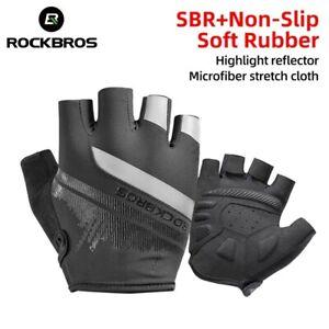 ROCKBROS Cycling Half/Full Finger SBR Gloves Non-slip Breathable MTB Bike Gloves