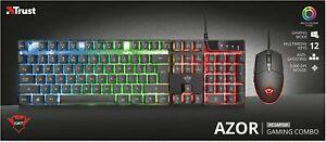 Trust Gaming GXT 835 Azor Tastiera e Mouse Illuminata DA GIOCO illuminazione