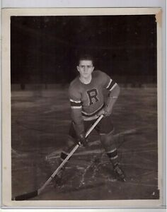 HARRY BELL SIGNED 8x10 PHOTO RARE AUTOGRAPH 1 NHL GAME NY RANGERS 1946-47 D2009