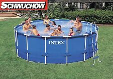 Intex Schwimmbecken Frame Pool Rondo Set 457 x 122 cm Leiter Abdeckplane Filter