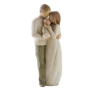 "Willow Tree Susan Lordi ""Our Gift"" Unser Geschenk Familie Paar + Baby 22cm 26181"