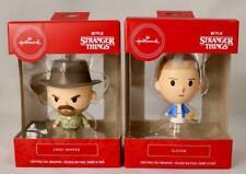 2020 Hallmark Stranger Things Chief Hopper & Eleven Red Box Xmas Tree Ornaments