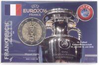 2 Euro Coincard / Infokarte Frankreich 2016 UEFA