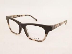 new L.A.M.B. LA021 GWEN STEFANI eyeglasses frame Black UNISEX 50mm Two Tone