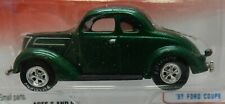 37 FORD 1937 GREEN COUPE 16 HOT STREET RODS RETRO JL JOHNNY LIGHTNING