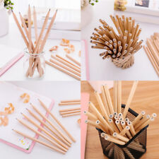 10pc Natural Pure Wood Pencil HB Pencils Gift Stationery Kids School Supplies