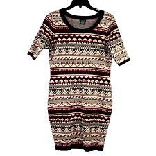 Rue 21 Women Aztec pattern short sleeve sweater bodycon dress. Large