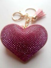Heart Pink Key ring Women Diamante Handbag Charm Key Chain Gift Girl Key ring