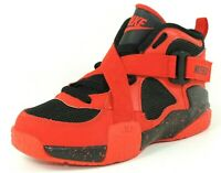Nike Air Raid PS 644414 600 Boys Shoes Basketball Sneakers Leather Red Black