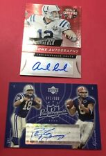 LOT 2 Certified Authentic Autograph Andrew Luck  Peyton Manning Auto