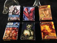 Lot of 6 Decks Playing Cards Star Wars Spiderman Indiana Jones