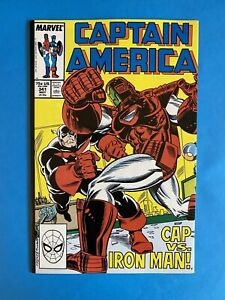 Captain America #341 💥 1st Lemar Hoskins As Battlestar