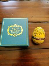 Bilston & Battersea Halcyon Day Yellow Egg - very nice shape !