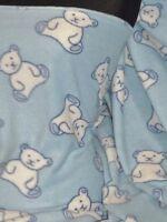 Polar Fleece Anti Pill Washable Soft Fabric- Teddy Bear Prints