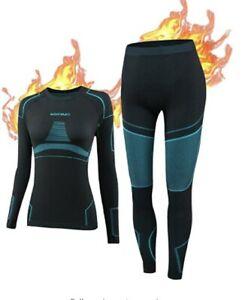NOOYME Thermal Base Layer Women, Ski Base Layers Women, Ladies Thermal Clothing