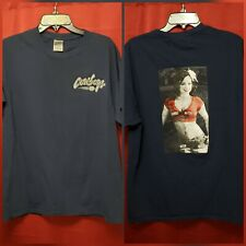 Dallas Cowboys Blue Tshirt Size Large With Quote & Cheerleader Woman Fan A8