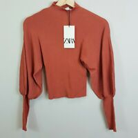 [ ZARA ] Womens Sweater Top w/ Puff sleeves NEW | Size M or AU 12 or US 8