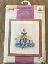 Lanarte Romantic Collection Cross Stitch Kit ENJOYING A SUMMERS EVENING 38X45cm