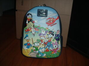 LOUNGEFLY DISNEY DUCKTALES CAST MINI BACKPACK~ WITH TAGS~ BRAND NEW~
