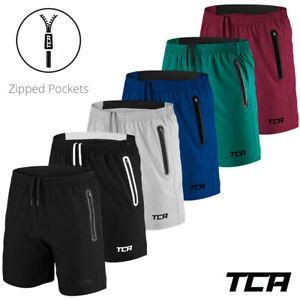 Men's Shorts Zip Pockets TCA Running Training Gym CrossFit Fitness