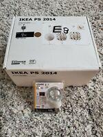 """IKEA PS 2014 - 14"""" Pendant Lamp White Outside & Copper Inside + LED E26 BULB NOB"""