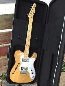 2016 Squier Fender Telecaster Thinline Classic Vibe 70's Mint Alder Body + Case