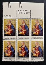 US Stamps, Scott #1579 10c 1975 Christmas: Madonna and Child Blk of 6 VF/XF M/NH