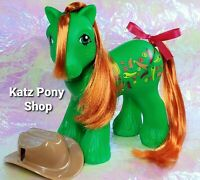 HQG1C Custom Vintage G1 MLP Style Boy Pony 🌶 PEPPERJACK🌶 Yellow Freckles w Hat
