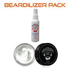 Beardilizer ValuePack Beard Growth Spray 4oz + Conditioner & Softener Cream 4oz