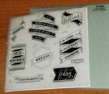 CTMH D1680 LIFE IS SWEET CRICUT COLLECTION ~ SENTIMENTS; The Little Things,HELLO