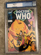 DOCTOR WHO #7 cgc 9.8 - Featuring The 4th Doctor - Marvel Comics 1985 ONLY 9.8