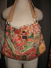 PATCH  NYC by Ross and Carney reversible bag hobo purse tote bag paisley floral