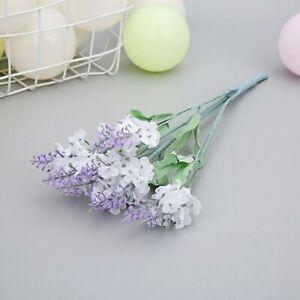 10 Heads Artificial Lavender Flower Fake Flower Desk Table Ornament Home Decor