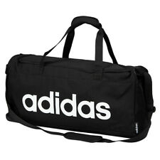 Adidas Linear Medium Duffle Bag Gym Sports Soccer Training Black FL3651