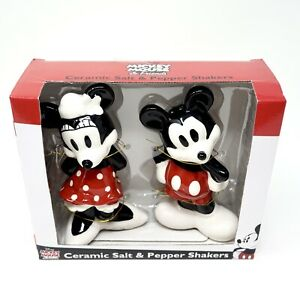 Salt & Pepper Shakers Ceramic Disney Mickey Mouse & Minnie Mouse