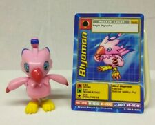 """Bandai Digimon Biyomon Action Figure Wings Flap 1999 2.5"""" with St-03 Card"""